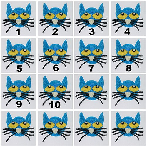 Free Pete the Cat Numbered Toppers