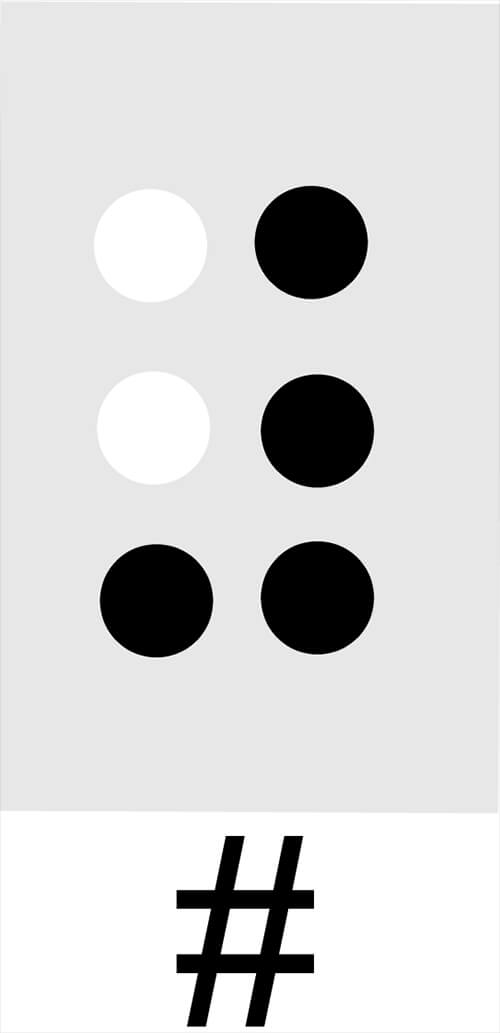 The Numeral Sign in Braille