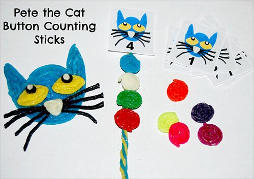 Wikki Stix Button Counting Sticks to Accompany Pete the Cat