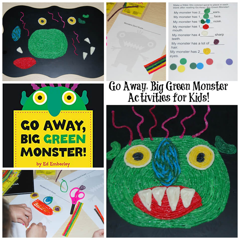 : Go Away, Big Green Monster Activities for Kids!