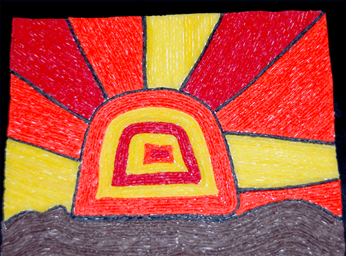 Warm Colors Harvest Sunset Craft for Kids
