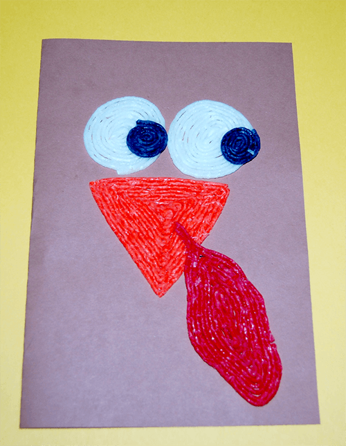 Wikki Stix Fine Motor Turkey Card