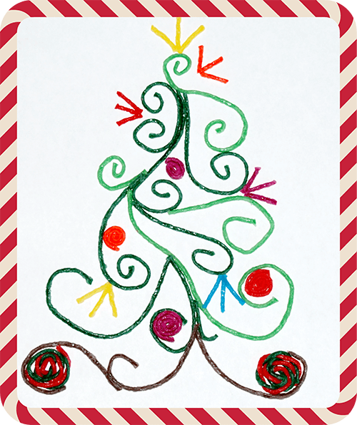 Quilled Christmas Tree Craft for Kids