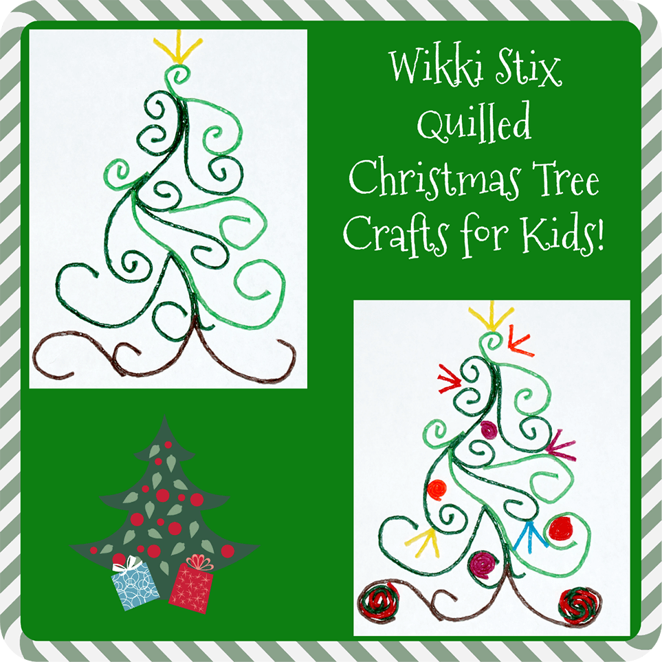 Quilled Christmas Tree Craft for Kids!