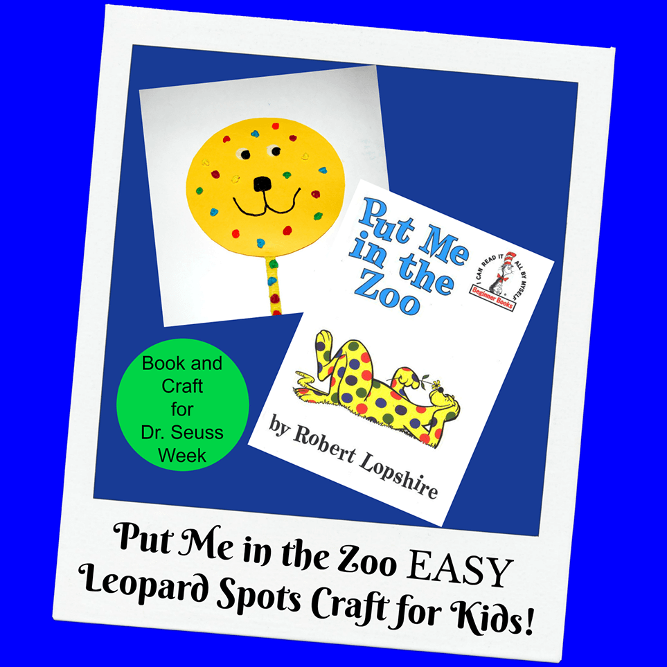 Put Me in the Zoo Colorful Leopard Spots Craft for Kids