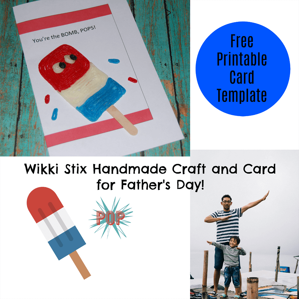 Wikki stix Handmade Craft and Card for Father's Day