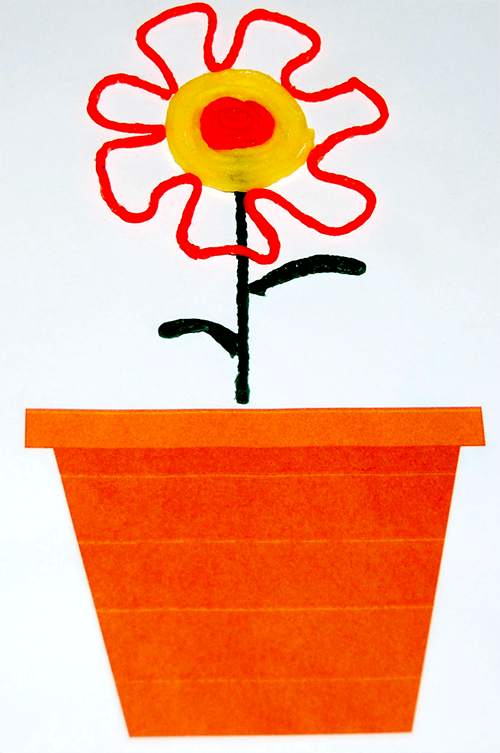 Wikki Stix Fine Motor Flower for Kids to Create
