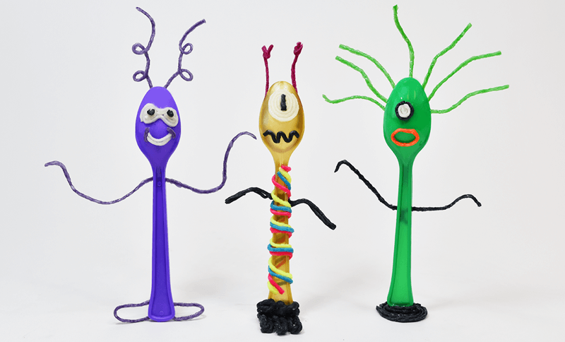 Alien Spoon Crafts for Kids