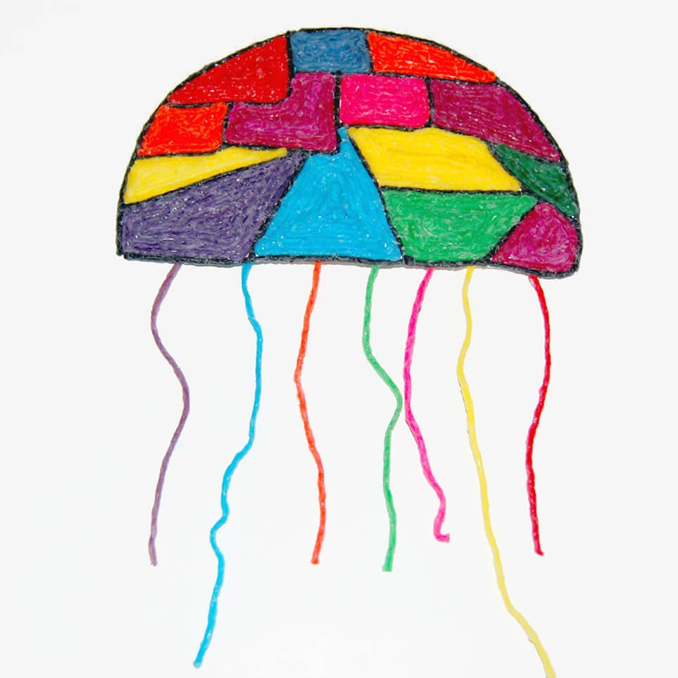 Rainbow Jellyfish Craft for Kids