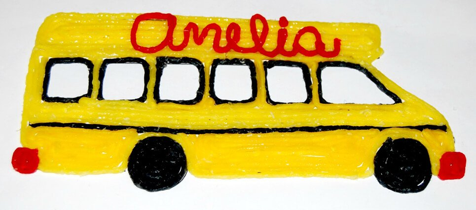 Fine Motor School Bus Craft for Kids