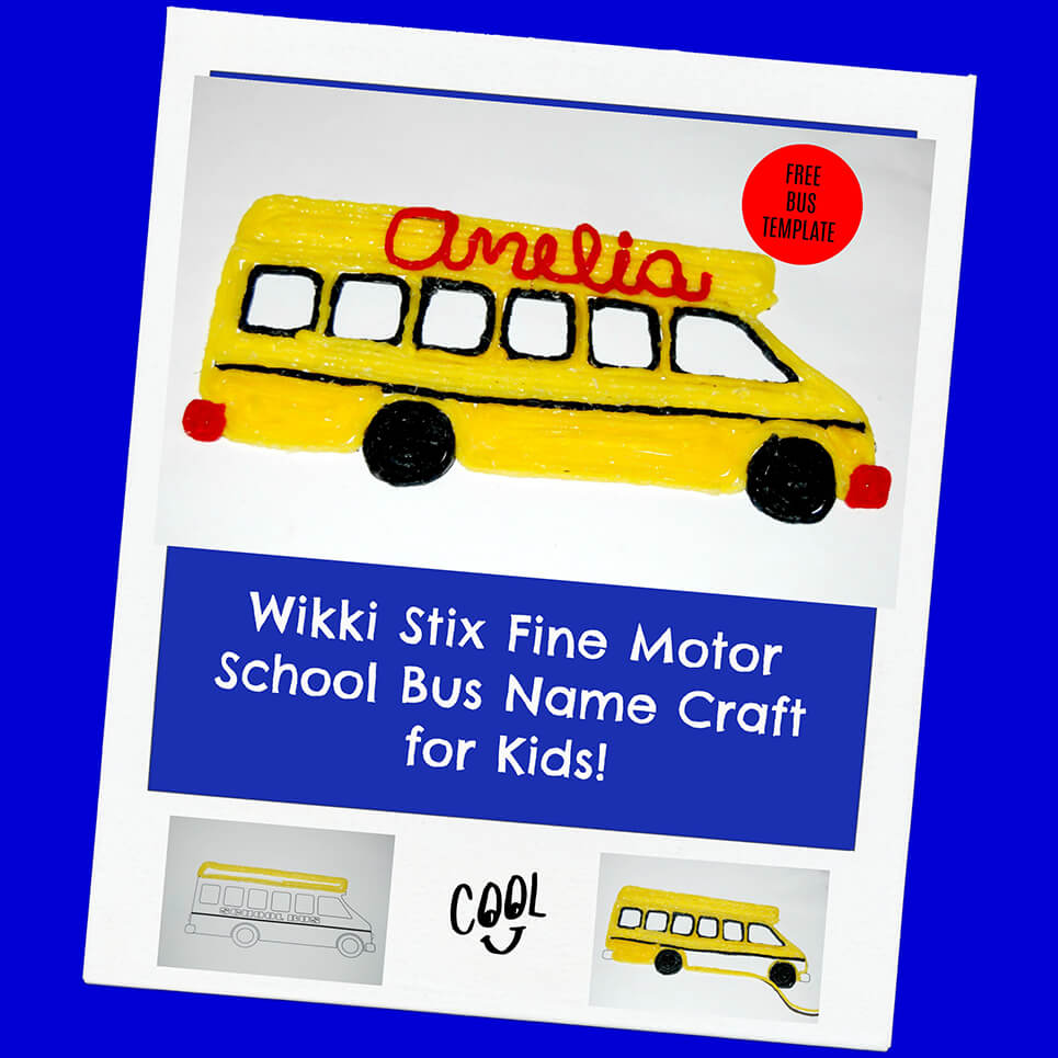 Wikki Stix School Bus Name Craft for Kids