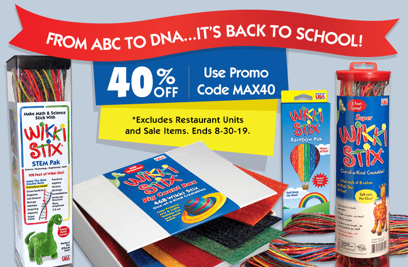 40% OFF for Back to School!