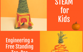 Thanksgiving STEAM for Kids_Engineering a Free Standing Tee-Pee