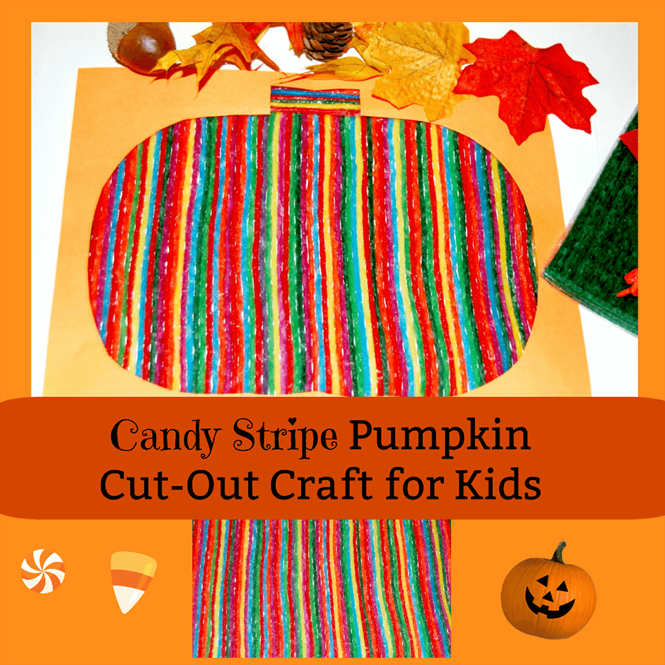 Candy Stripe Pumpkin Cut-Out Craft for Kids