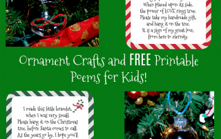 Wikki Stix Ornament Crafts and Free Printable Poems for Kids