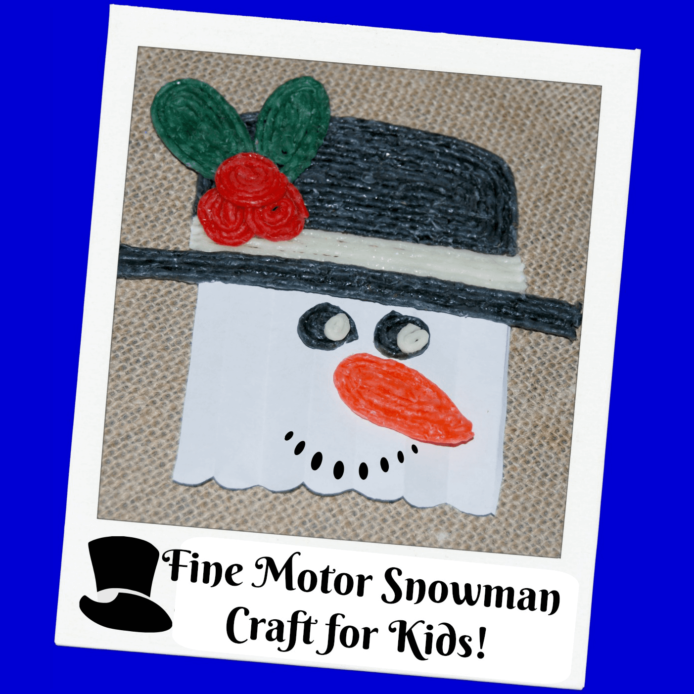 Fine Motor Snowman Craft for Kids