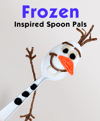Frozen Inspired Spoon Pals