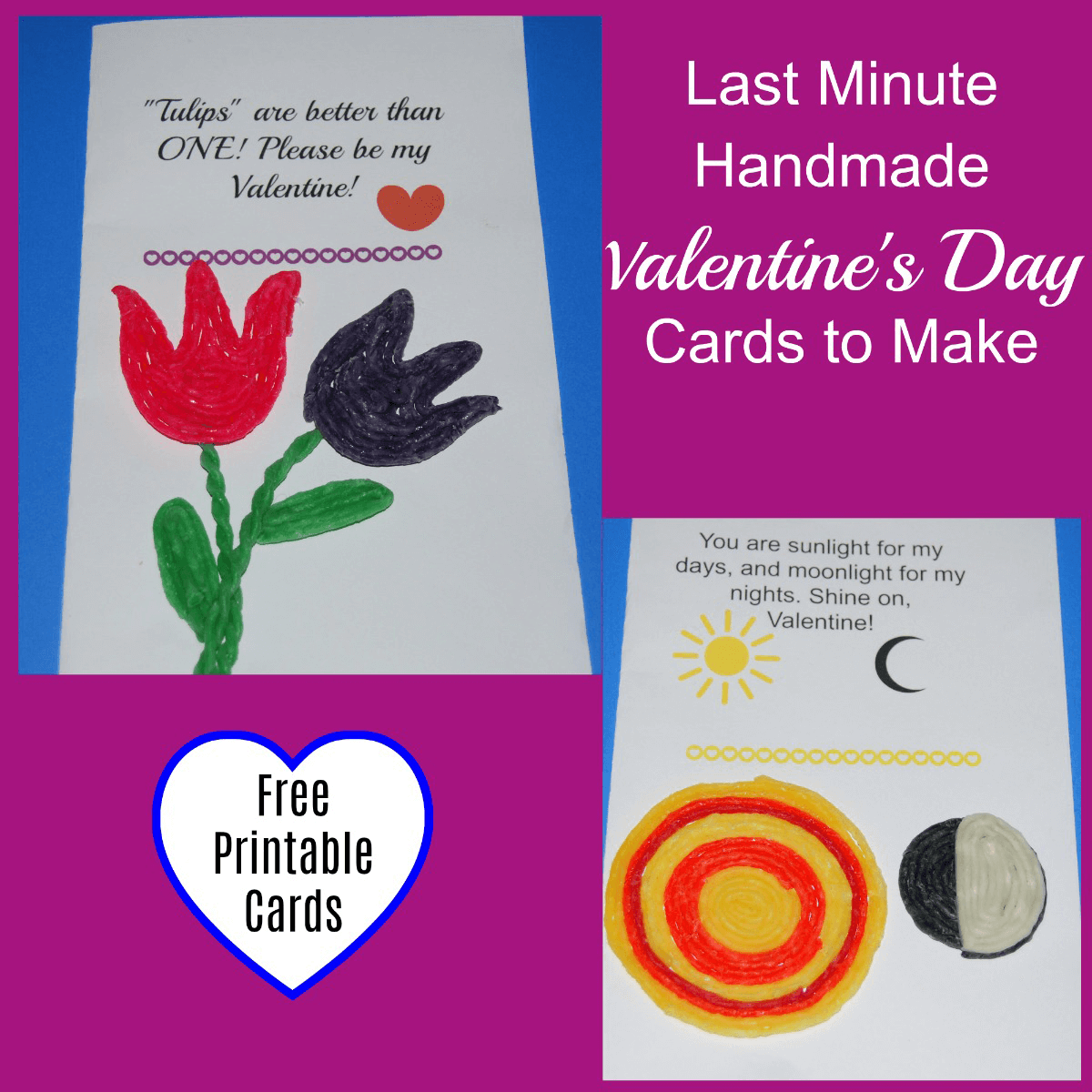 Last Minute Valentine's Day Cards to Make