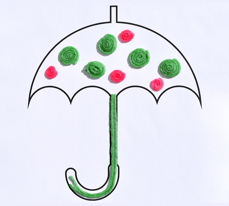 Simple Spring Umbrella Craft