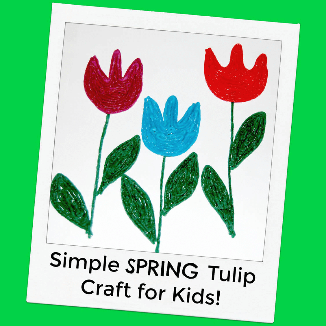 Simple Spring Tulip Crafts for Kids