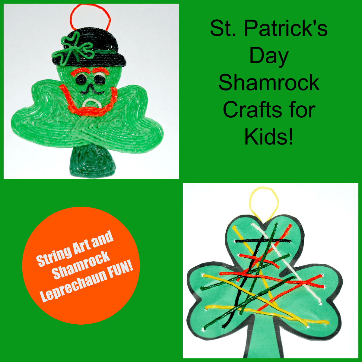 Wikki Stix St Patricks Day Shamrock Crafts for Kids