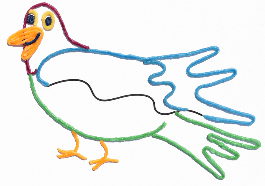 Bird Squiggle Art for Kids