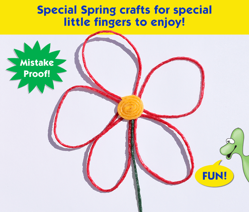 Special Spring crafts for special little fingers to enjoy!