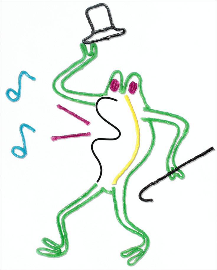 Frog Squiggle Art for Kids