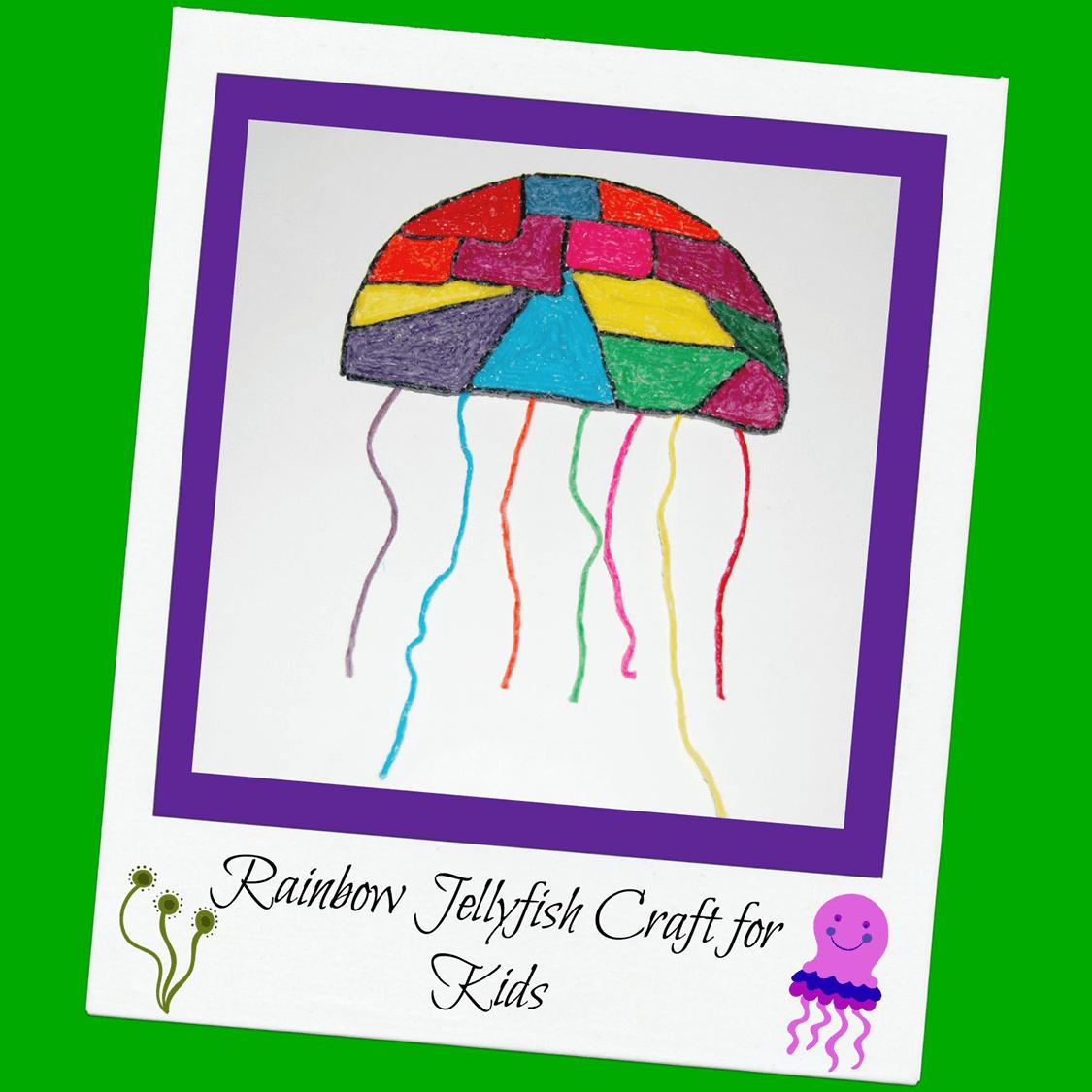 Rainbow Jellyfish Fine Motor Craft for Kids