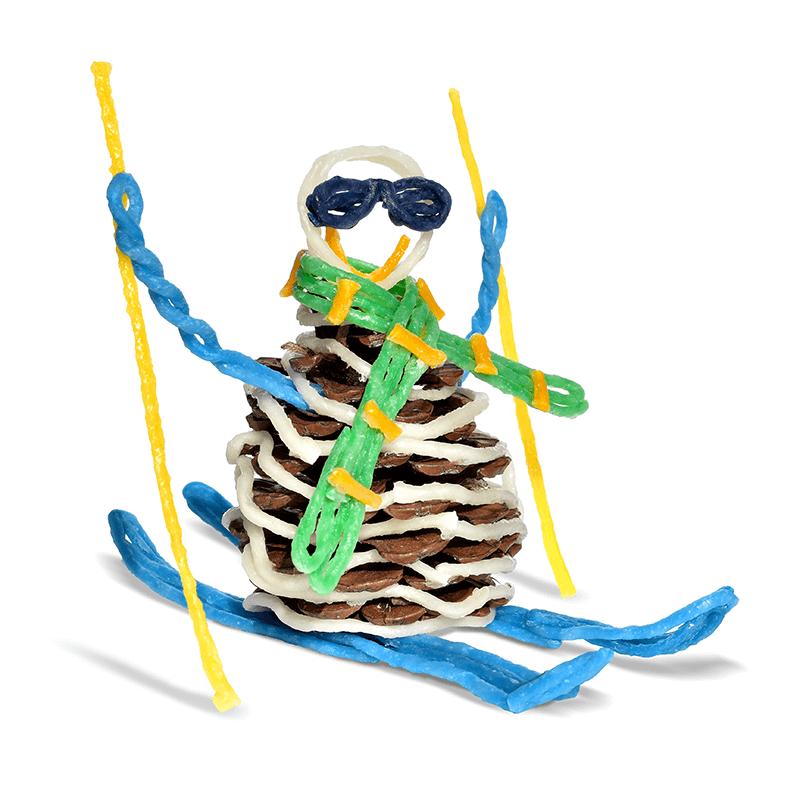 Pinecone Skier