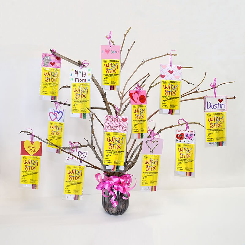 Wikki Stix Valentine's Day Tree