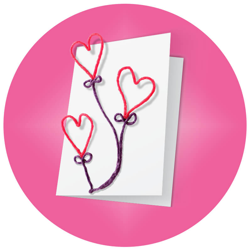 Valentine's Day Card - 3 Hearts